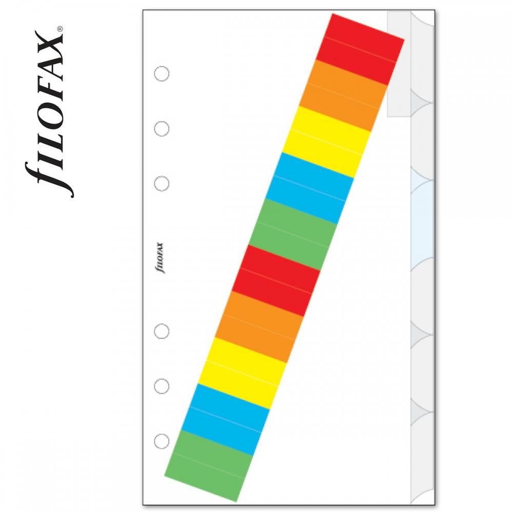 ece80c97c9dd Filofax Elválasztó lapok Bianco színes regiszter címkékkel 6 ...